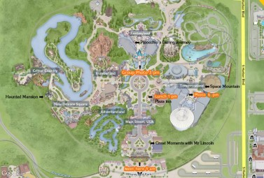 Global Mj Disney Day - 26th June  2015 - Agenda Map